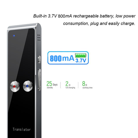 T8+ Smart Translator Handheld Travel Voice Interpreter Business Multilanguage Translation Stick