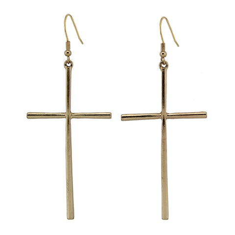 Fashion Jewelry Big Dangle Cross Earring Cool Gift Girls lady Earring