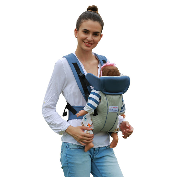 2-30 Months Breathable Multifunctional Front Facing Baby Carrier Infant Baby Sling Backpack Pouch Wrap