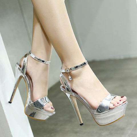 Women summer Sexy Thin high heel sandals female open toe Shoes