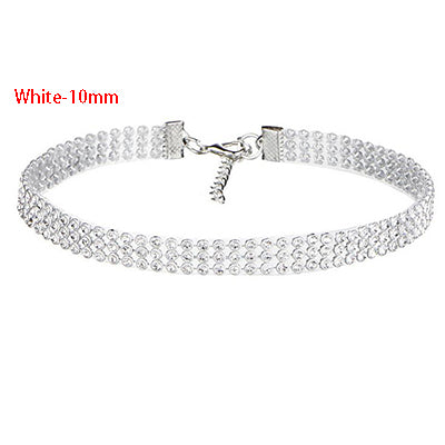 Hot European Style Women Bundle Neck Element Necklace Wide Full Rhinestone Diamante Crystal Jewelry Choker Collar