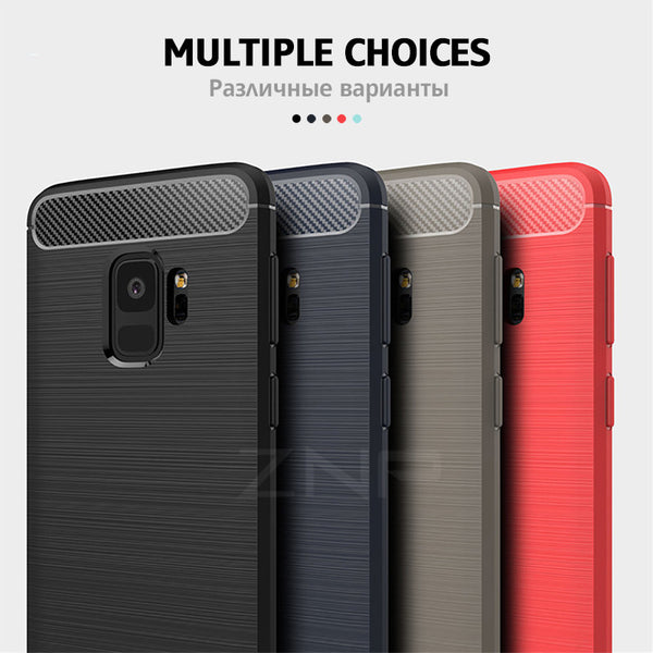Soft Silicone Fiber Cases For Samsung Galaxy S8 S9 Plus Note 8 S8 Full Cover Cases