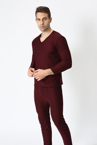 plus Size XL-9XL autumn winter men thicken thermal underwear men long  velvet soft warm suits shirt+pants 2 pieces set