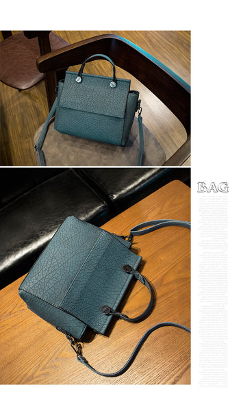 Vintage Trapeze Tote Women Leather Handbags