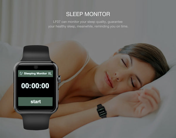LF07 Smart Watch Clock Sync Notifier Support SIM Card Bluetooth for Apple iphone Android Phone Smartwatch Watch