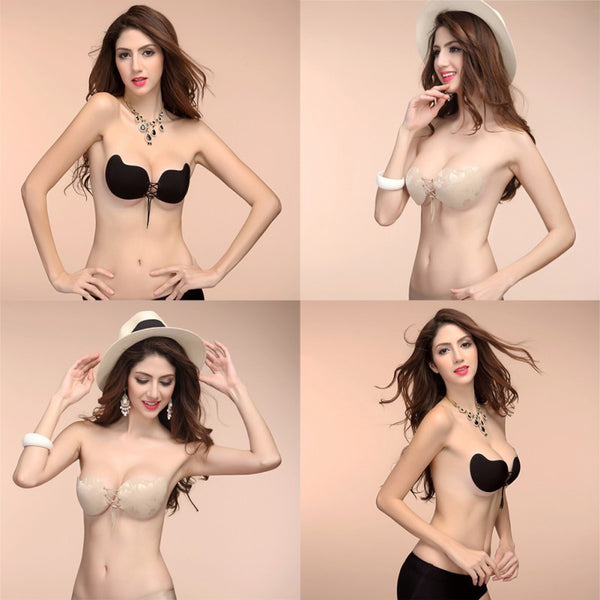 Silicone Adhesive  Backless Invisible Bra
