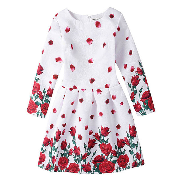 Girls Dress Winter Autumn Long Sleeve Toddler Christmas Dresses for Kids