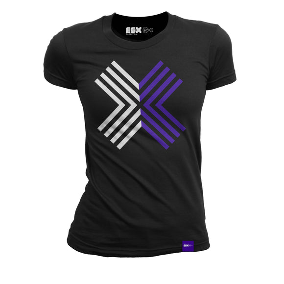 EGX Digital Logo Ladies Tee - Black