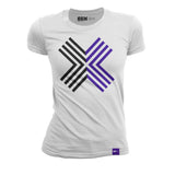 EGX Digital Logo Ladies Tee - White