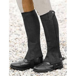 Can-Pro Suede Half Chaps Black