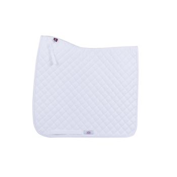 Ogilvy Dressage Profile Pad White with White Piping
