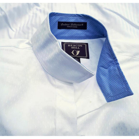"Essex Classics Beacon Hill CoolMax Collection Show Shirt ""White/Blue Stripes"""