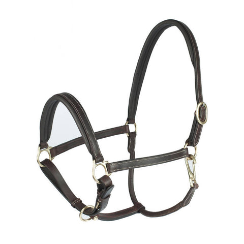 Horze Leather Largo Halter Dark Brown
