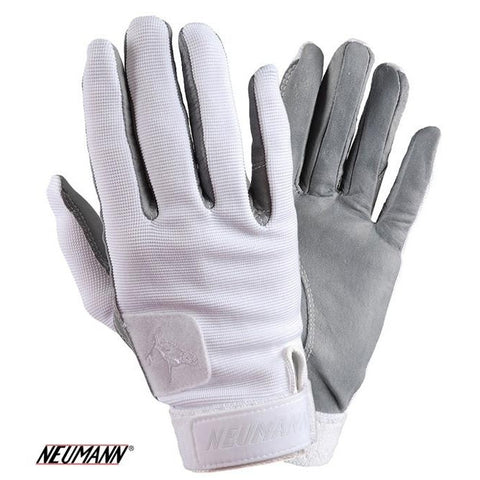 Neumann Tackified Genuine Leather Summer Gloves White