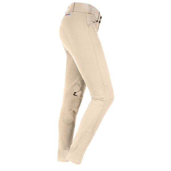 Horze Grand Prix Women's Extend Leather Knee Patch Breeches