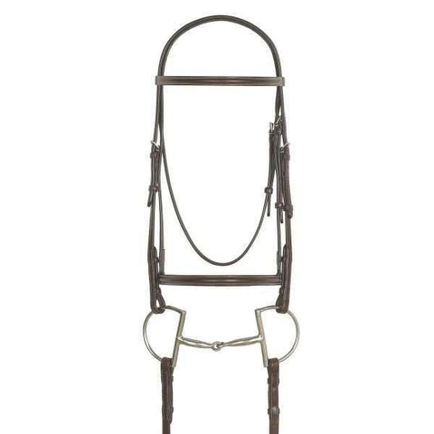 HORSELiFE Plain Raised Bridle with Laced Reins