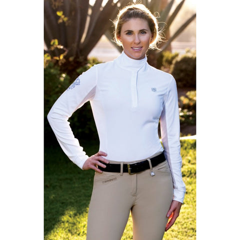 Romfh Competitor Long Sleeve Show Shirt White