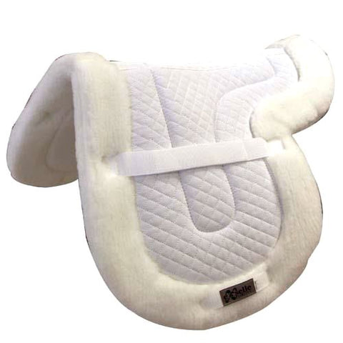 Exelle Quilted Shaped Close Contact Pad Fleece Bottom