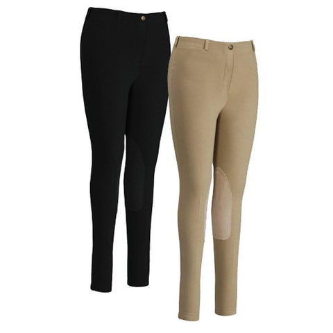 Tuffrider Comfort Country Low Rise Knee Patch Breeches