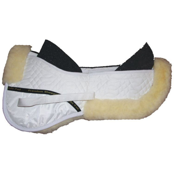 Sheepskin Half Pad with Foam Inserts Black