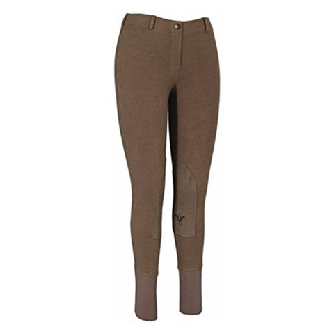 Tuffrider Womens Starter Low Rise Pull-On Knee Patch Lava Breeches