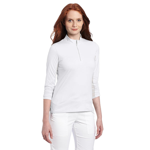 Bette & Court Long Sleeve Mock White