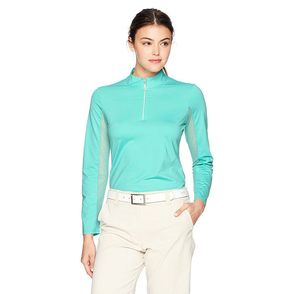Bette & Court Long Sleeve Mock Aqua