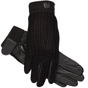 SSG Lycrochet Ultraflex Riding Gloves Black Style 2500