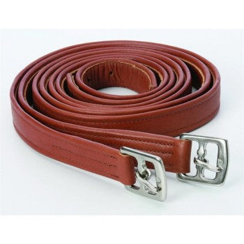 STIRRUP LEATHERS WITH METAL CLASP END