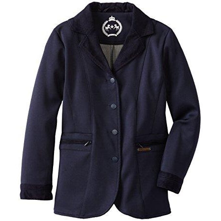 Equine Couture Girl's Ingate Show Coat Navy XLarge