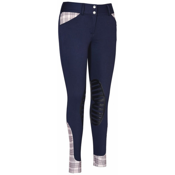 EQUINE COUTURE LADIES BAKER PRO KNEE PATCH BREECHES NAVY
