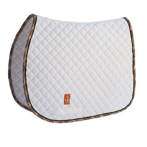 Lettia Collection White with Baker Trim Saddle Pad