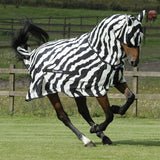 Bucas Pony Buzz-Off Zebra Fly Sheet Full neck
