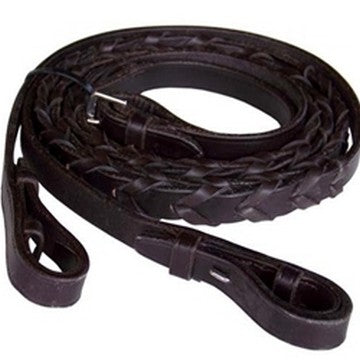 Chetak Laced Leather Reins Havana