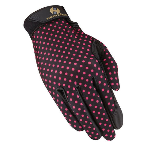 Heritage Performance Glove Pink Polka Dots