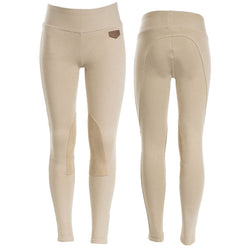 Horze Spirit Kid's Knee Patch Active Tights Light Brown