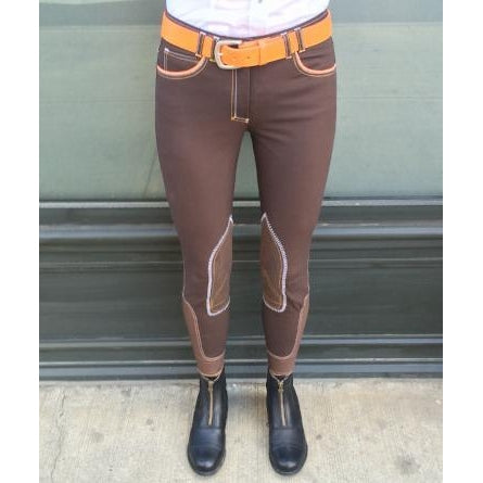 HORSELiFE Schooling Breeches Knee Patch Choclolate