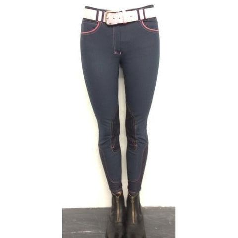 HORSELiFE Schooling Breeches Knee Patch Navy