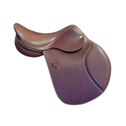 "E. Jeffries Bascule Close Contact Saddle 17.5"" Medium Tree Dark Brown"