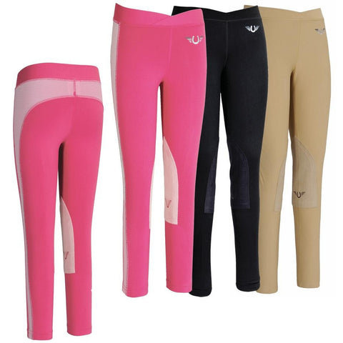 TuffRider Ventilated Schooling Tights Pink