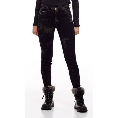 F.O.A.L. Euroseat Knee Patch Black Tie Dye Breeches