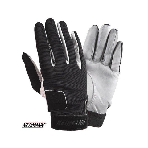 Neumann Tackified Genuine Leather Summer Gloves Black