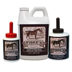 Fiske's Hoof and Hide Balm with Applicator Brush 450ml