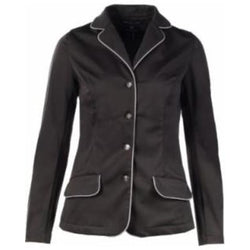 Horze Crescendo Haven Show Jacket-Black with Grey Piping