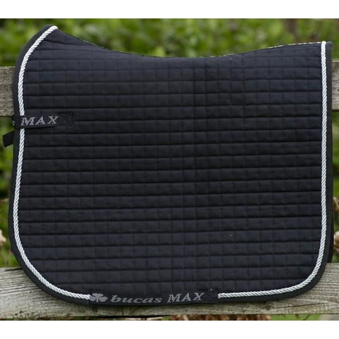 Bucas Max Saddle Pad Dressage Black/Silver