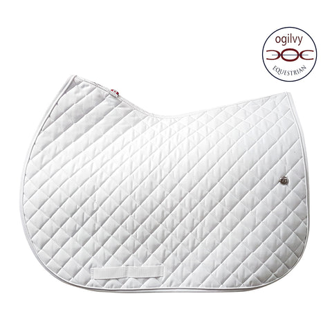 Ogilvy Jumper Profile Pad White with White Piping