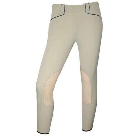 Challenger Low Rise High-Tech CoolMax® Combination Knee-patch Breech with Genuine Leather