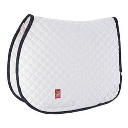 Lettia Collection White with Tartan Trim Baker Saddle Pad