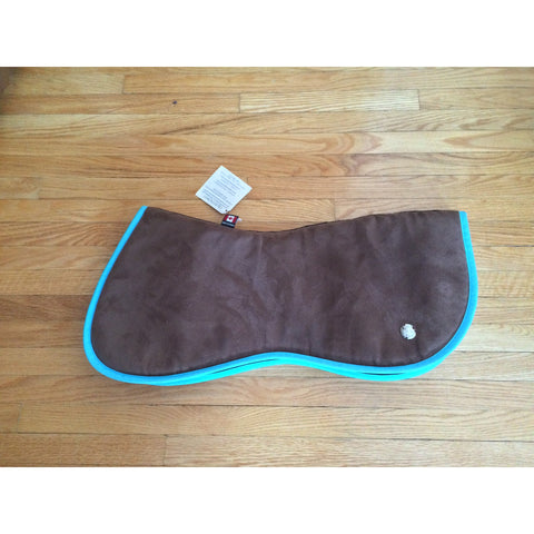 Ogilvy Jump Gummy Half Pad Brown with Turquoise Binding