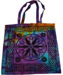 Goddess Pentagram Triquetra Tote Bag